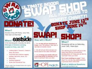 "HopeMatch's ""Swap Shop"" event information"